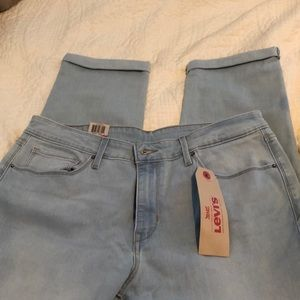 NWT Levi mid rise skinny crop jeans